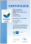 Environment management system validated according to EG No. 1221/2009 (EMAS) since 1996