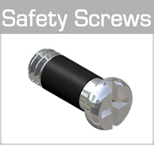 Injection Safety Screws for hinges (plus-minus head)
